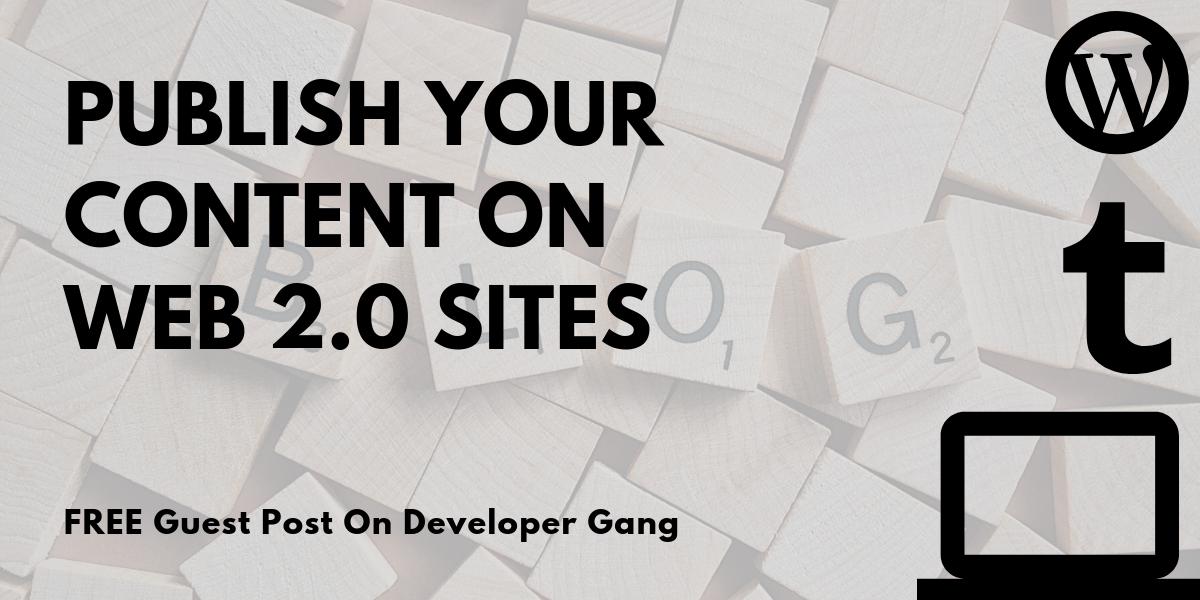 free web 2.0 sites list 2019-2020