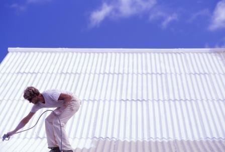 תהליך הלבנת גגות